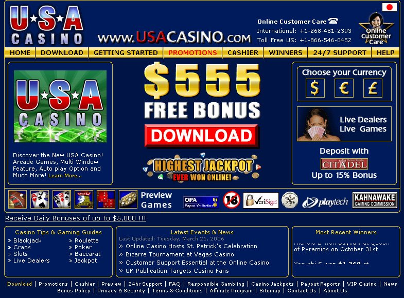 new no deposit bonus casinos usa incorporated